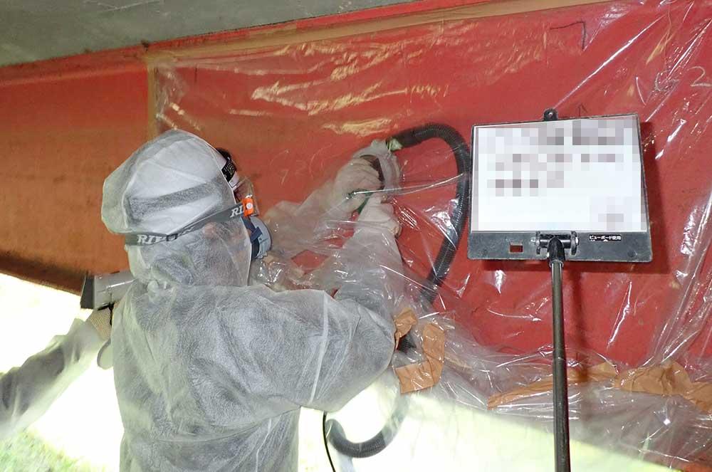 塗膜含有成分調査に伴う試料採取イメージ